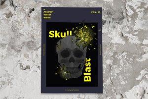 Skull Blast Poster Template