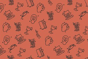 History and culture icons pattern