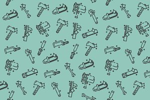 Instruments icons pattern