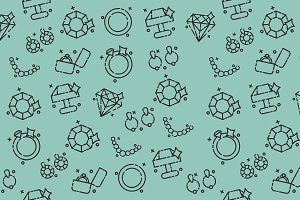 Jeweler icons pattern