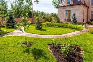 Natural flower landscaping
