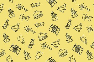 Party concept icons pattern