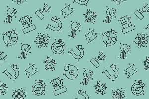 Physics icons pattern