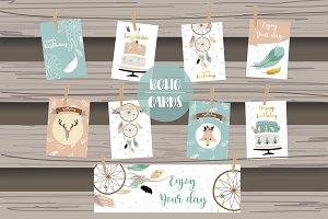 8 cute lovely design boho cards3#