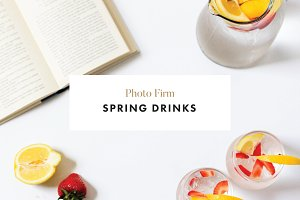 STYLED PHOTOS - SPRING DRINKS