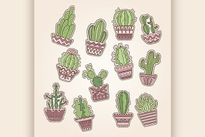vector cactuse set