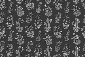 vector cactuse pattern