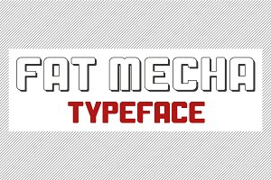 Fat Mecha Typeface