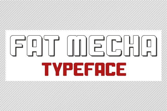 Fat Mecha Typeface
