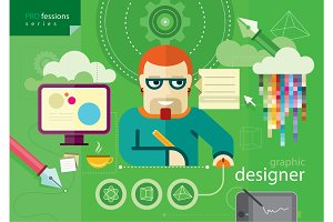 Graphic designer profession series
