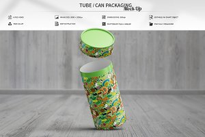 Tube / Can Packaging Mock-Up