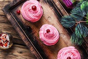 New Year dessert cupcakes