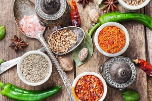 diversity of oriental spices