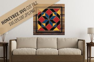 Amish Diamond Barn Quilt cut file