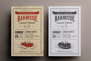 Birthday steak BBQ invitation