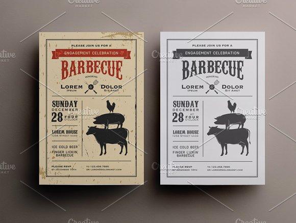 BBQ invitation template