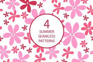 4 summer seamless patterns №1