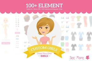 Custom Girls - Logo & Badges Creator
