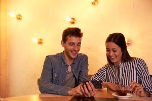 Young Couple and Technology