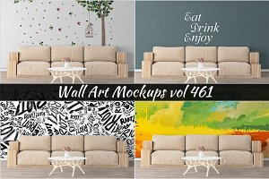 Wall Mockup - Sticker Mockup Vol 461