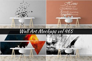 Wall Mockup - Sticker Mockup Vol 465