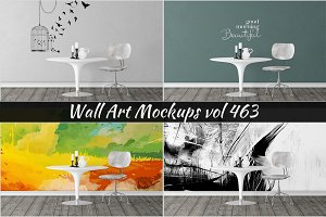 Wall Mockup - Sticker Mockup Vol 463
