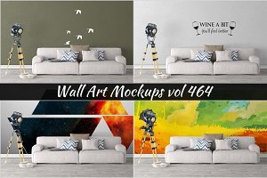 Wall Mockup - Sticker Mockup Vol 464