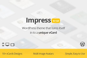 Impress unique vcard WP theme