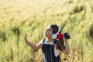 Happy girl dancing