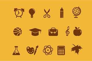 Back to School - icon set