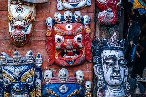 Handmade Wooden Masks For Sale