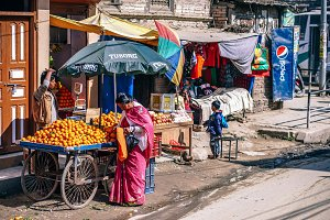 Fruit Stall Vendor