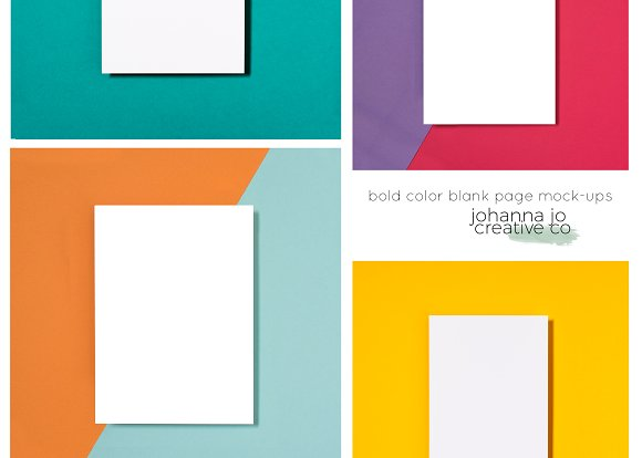 Bold Color Blank Page Mock-Ups