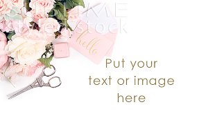 Image background-Soft Pink Flowers