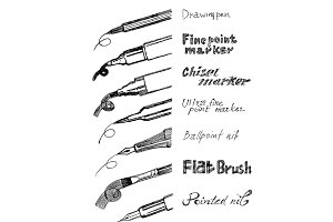 Calligraphy instruments