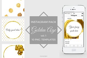 GOLDEN AGE - Instagram pack