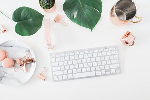 Desktop Flatlay Styled Stock Photo