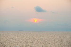 The sunshine on sea