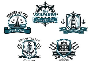 Nautical heraldic designs