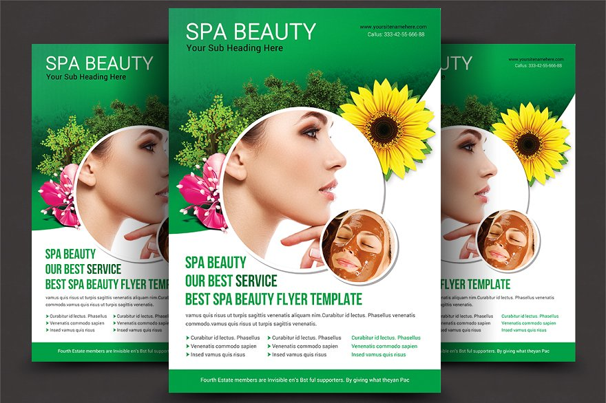 Beauty Salon Spa Flyer Templates Flyer Templates Creative