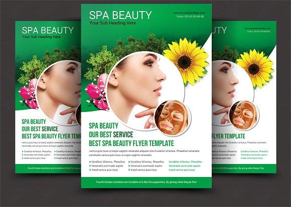 spa beauty flyer template flyer templates creative market