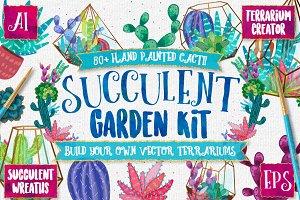 Succulent & Cacti Graphics Pack