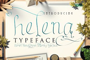 helena script hand-drawn typeface