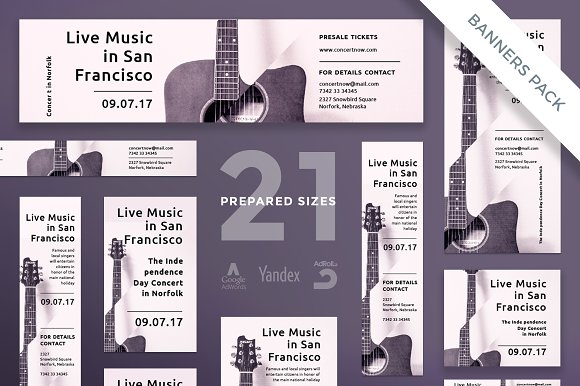 Banners Pack | Concert