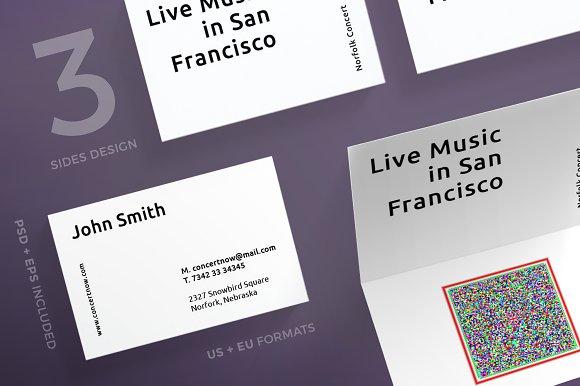 Business Cards Concert Business Card Templates Creative Market