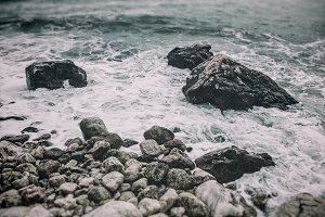 Rocky sea shore