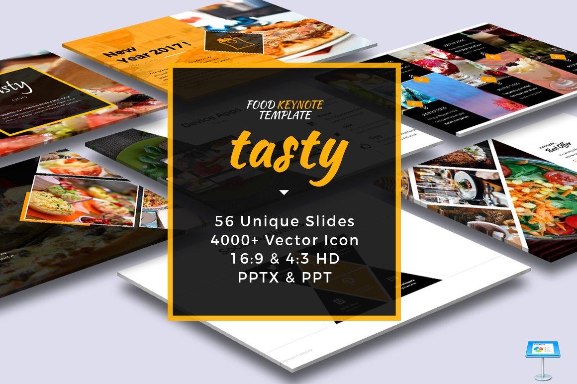 Tasty Food Keynote Template Presentation Templates Creative Market - Keynote brochure template