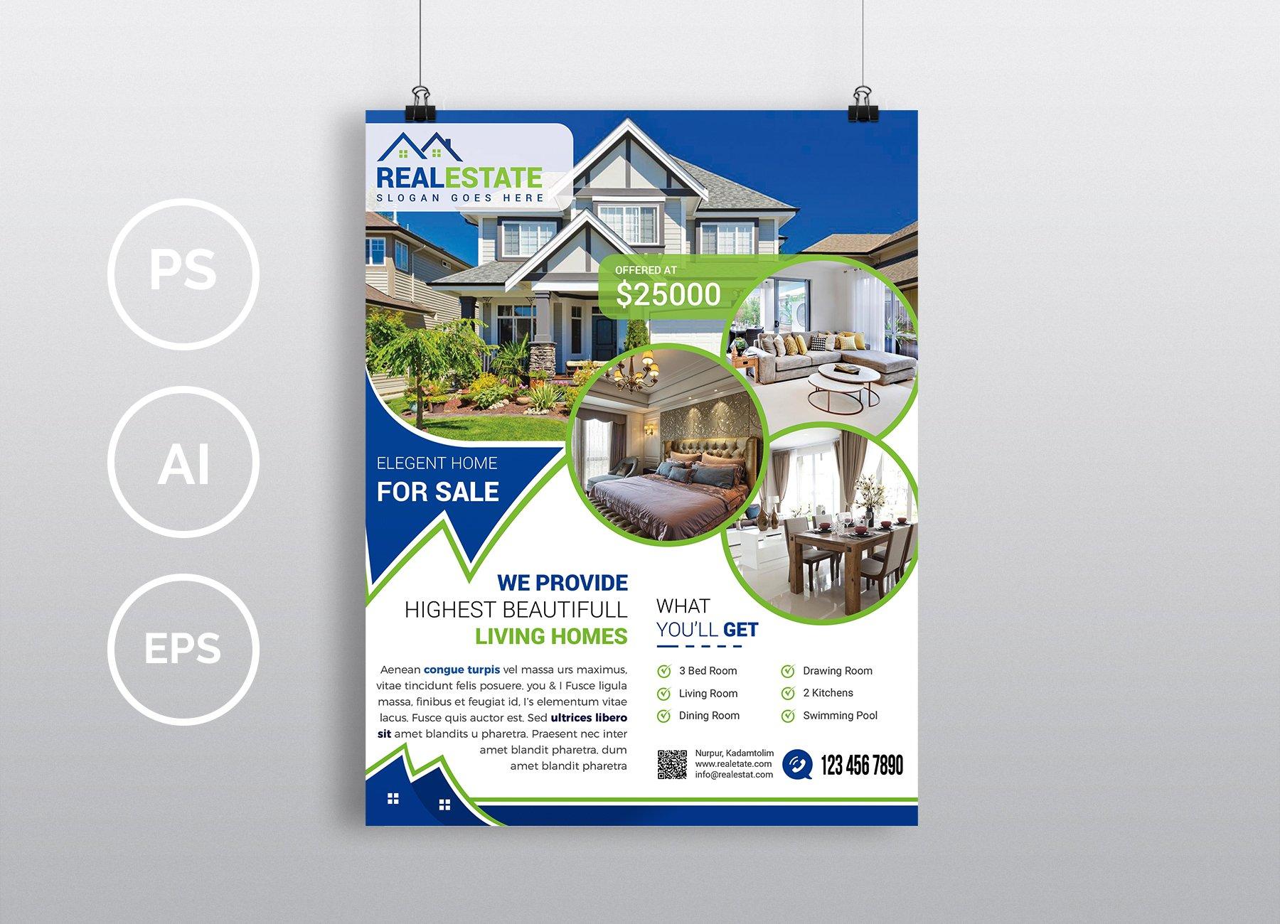 real estate flyer vol 02 flyer templates creative market