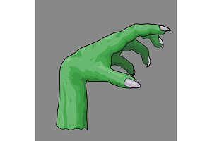 illustration of a zombie hand