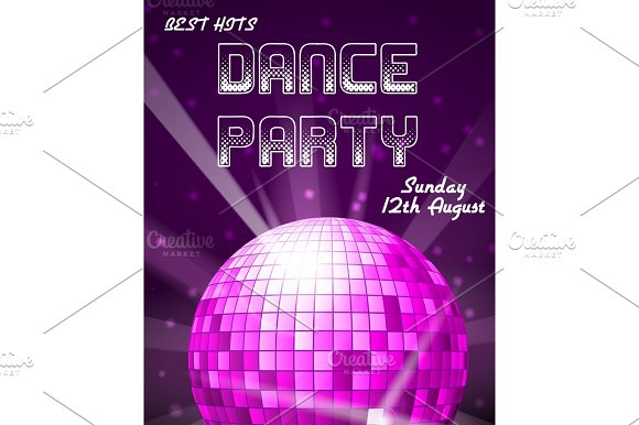 Dance Disco Party Holiday Vector Event Background Or Club Invitation